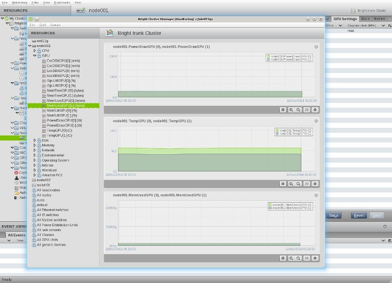 Bright Cluster Manager Screenshot